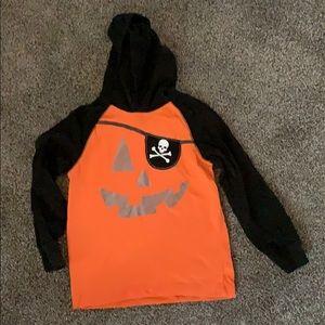 Gymboree Halloween pumpkin long sleeve hoodie 7